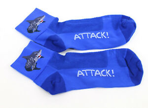 Defeet Shark Attack! socks blue - 9.5-11.5