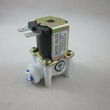 """DC 12V 1/4"""" Inlet Feed Water Solenoid Valve Quick Connect N/C normally Closed"""