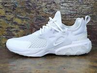 Nike React Presto GS 'Triple White' Trainers - Size Uk 4.5 Eur 37.5 - BQ4002 100