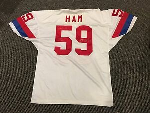 JACK HAM AFC PRO BOWL PITTSBURGH STEELERS SIGNED JERSEY GREAT INSCRIPTIONS