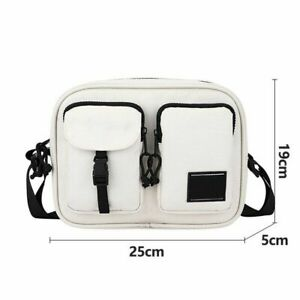 Men Shoulder Bags Fit For 9.7 Inch Ipad Waterproof Multiple Pockets Zipper Close