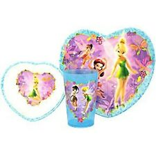 Tinkerbell Mealtime Dinnerware Set Includes Plate Bowl and Cup by Disney-New!