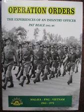 OPERATION ORDERS AATTV Vietnam War Malaya Borneo Conflict Australian Book Beale
