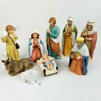 Nativity Vintage Home Interior 10Pc. Set Homco 5260 Manger/Creche Christmas