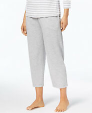 8fc0894173bb Charter Club Knit Cropped Pajama Pants, Dove Grey Heather, Small