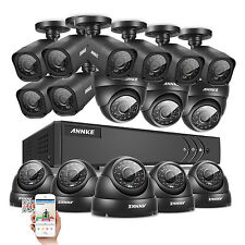 ANNKE 16CH 1080N HD TVI H.264+ DVR 1500TVL 720P IR Cameras Home Security System