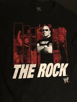 WWE  The Rock Wrestling T-Shirt Men Size 2XL Black Perfect