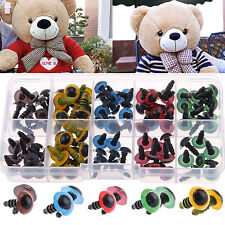 100pcs Plastic Safety Black/Color Eyes Teddy Bear Doll Animal Make Soft Toy DIY