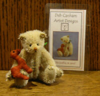 "DEB CANHAM Artist Designs OLD GODFREY, Old Friends Coll. 3.75"" LE Mohair"