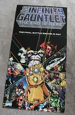 Infinity Gauntlet THANOS 1991 Jim STARLIN George PEREZ ORIGINAL PROMO Poster FN+