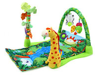 Baby Gift Rainforest Musical Play Soft Mat Activity Play Gym Toy Bedroom Decor