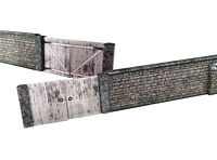 6ft OLD STONE WALL & GATES CARD KIT- OO GAUGE FOR HORNBY MODEL RAILWAY