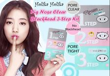 [Holika Holika]Pig Nose Clear Remove BlackHead 3 Step Kit Pack 5ea Made in Korea