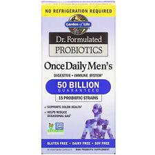 Jardín de la vida, Dr. formulado probióticos, una vez al día's para hombres, 30 tapas vegetarianas