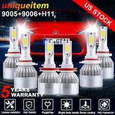 Combo 9005+9006+H11 LED Headlight Hi/Lo Beam Bulb 6000K Fog Light 4965W 744750LM