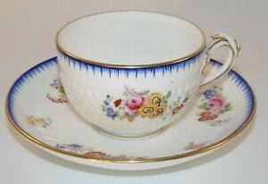 Vintage Minton Mortlock Oxford St Gilded Split Handle Moulded Cup & Saucer 1925