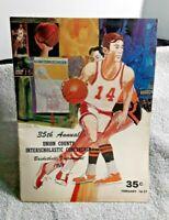 1971 Union County New Jersey Basketball Tournament Program Mayor John Gregorio