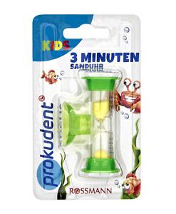 ✅Sanduhr mit Saugnapf 3 Minuten Kinder Zahnputzuhr Uhr Zähne putzen Zahnpflege✅