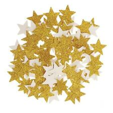 100pcs Glitter Gold Paper Stars Table Scatters Wedding Party Décor DIY Craft