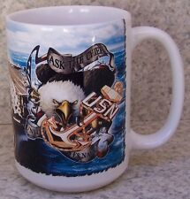 Coffee Mug Military Navy Aircraft Carrier Ship New 14 ounce cup with gift box