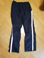 NIKE Old School Basketball Work Out Jogging Running Nylon Pants Navy Blue Large