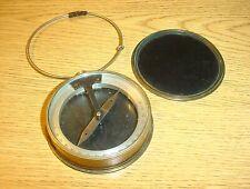 Antique Brass Surveying Surveyor's Dipping Needle Compass