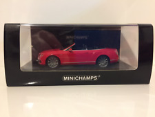 MINICHAMPS 436139061 BENTLEY CONTINENTAL GTC VITESSE 2012 rouge 1:43 echelle