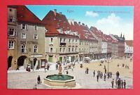 AK EGER in Böhmen um 1914 Marktplatz mit dem Rolandsbrunnen   ( 29633