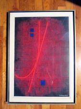 HAKU MAKI-Poem-65-2-1965- Lt,Ed 2/50 Embossed Wooccit  Etching-Signed-Framed
