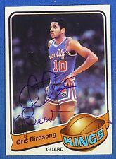 OTIS BIRDSONG autographed  signed 1979-80 Topps Kansas City Kings