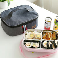 Portable Lunch Bag Insulated Thermal Travel Picnic Bento Tote Container Box Case