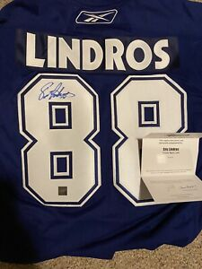 Eric Lindros Signed Jersey COA Toronto Maple Leafs