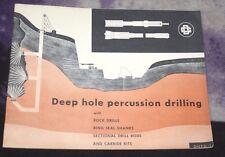 Deep Hole Percussion Drilling Rock Drills Ring Seal Shanks Carbide Bits