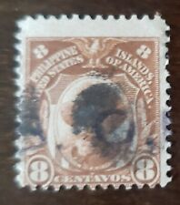 Philippines stamp hand stamped O.B. on 8 centavos used never hinged.