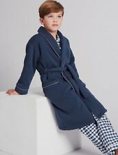 BNWT MARKS & SPENCER Blue Autograph BOYS DRESSING GOWN 9-10 YRS