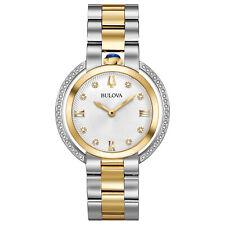Bulova Rubaiyat Women's Quartz Diamond Accent Sapphire Crystal 35mm Watch 98R246