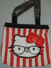 HELLO KITTY STRIPE NERD LOUNGEFLY PURSE BAG NEW!