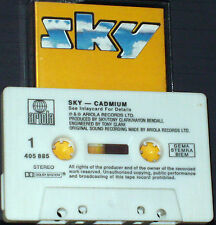 Sky  Cadmium CASSETTE ALBUM  Kevin Peek Fry Flowers John Williams white shell
