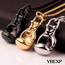Men's Fashion Jewelry 3D Boxing Glove Charm Stainless Steel Pendant Necklace