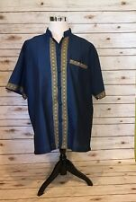 Traditional Haori Shirt Mens XL(See Size Note)This Has No Labels S/S Oriental