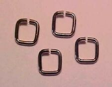Heavy Duty (Almost) SQUARE JUMPRINGS for Model Horse Tack (Set-of-4) - SILVER