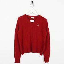 Vintage Women's LACOSTE Small Logo Knitted Sweatshirt Jumper Orange | Medium M