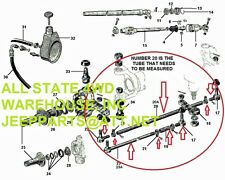 JEEP 1982-1986 CJ7 CJ8 COMPLETE WIDE TRACK AXLE TIE ROD KIT NEW