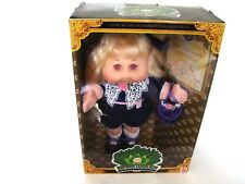 1997 Keepsake Collection Cabbage Patch Kids Blonde Pink Eyes Purple Dress NRFB