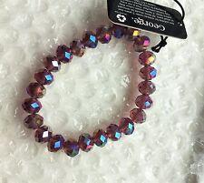 Purple/Multi Coloured Glass Beaded Bracelet from George Asda New