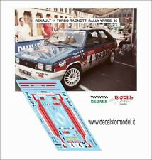 DECALS 1/43 RENAULT 11 TURBO RAGNOTTI RALLY YPRES 1986