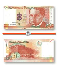 Peru 50 Nuevos Soles 2012 Unc Pn 189a Prefix B Suffix F, Banknote24
