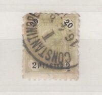 Austria Turkish Empire 1891 2pi On 20kr Used Constantinople Scarce J3871