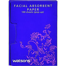 Watsons Facial Oil Absorbing Blotting Paper (pop-up) 100 Sheets Lavender