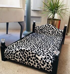 ❤️ Fab Professionally Upholstered Leopard Luxury Dog/Cat   Bed 64x44cms  ❤️ Gift